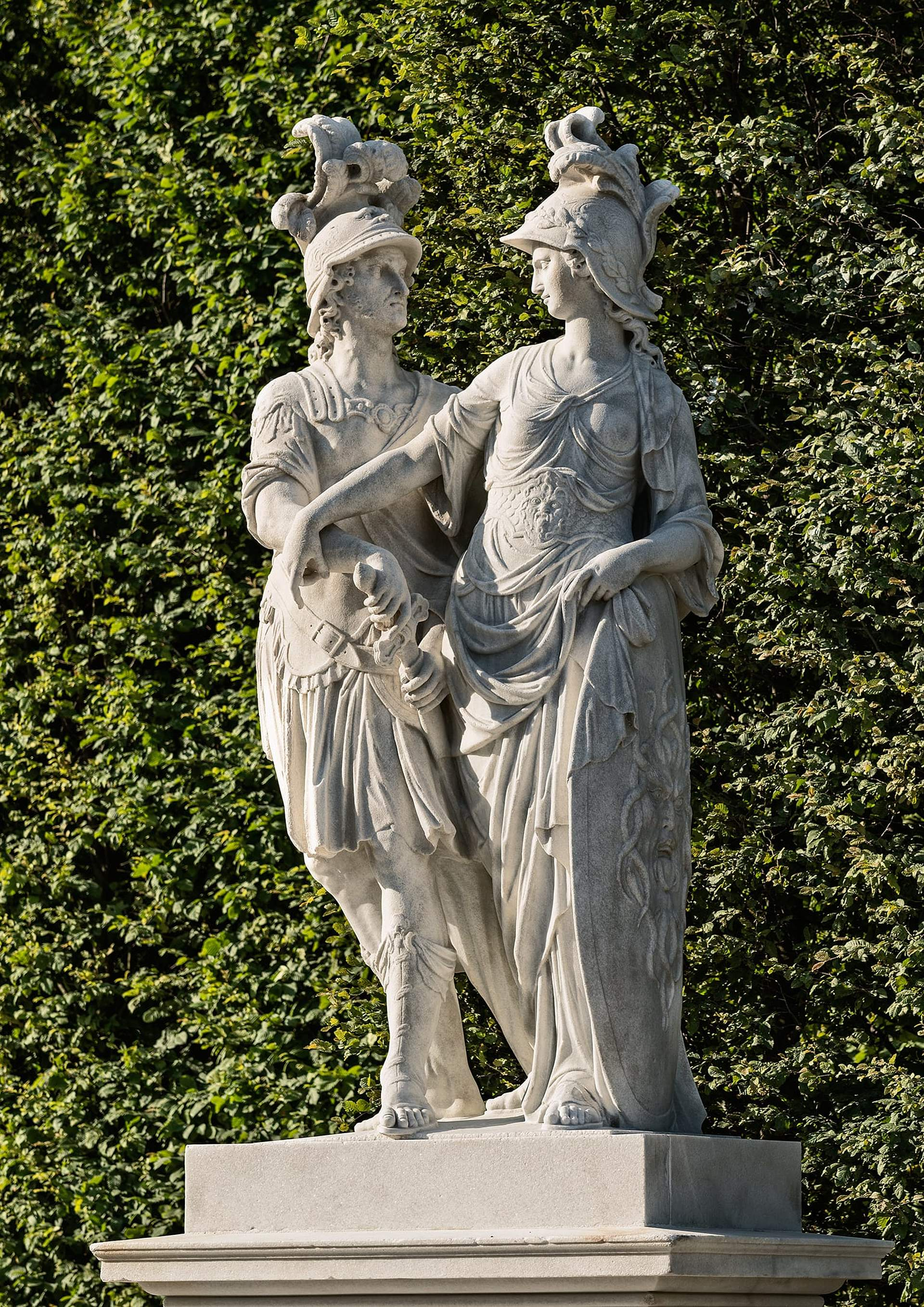 Statues in the Great Parterre